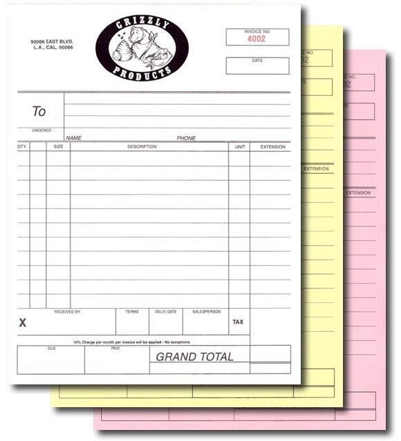 Adams Invoice Book, 3 Part, Carbonless, 50 ST/BK