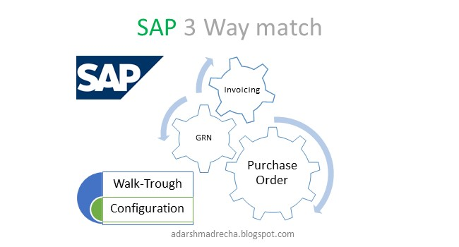 SAP 3 way match PO, GRN, Invoicing | Adarsh Madrecha