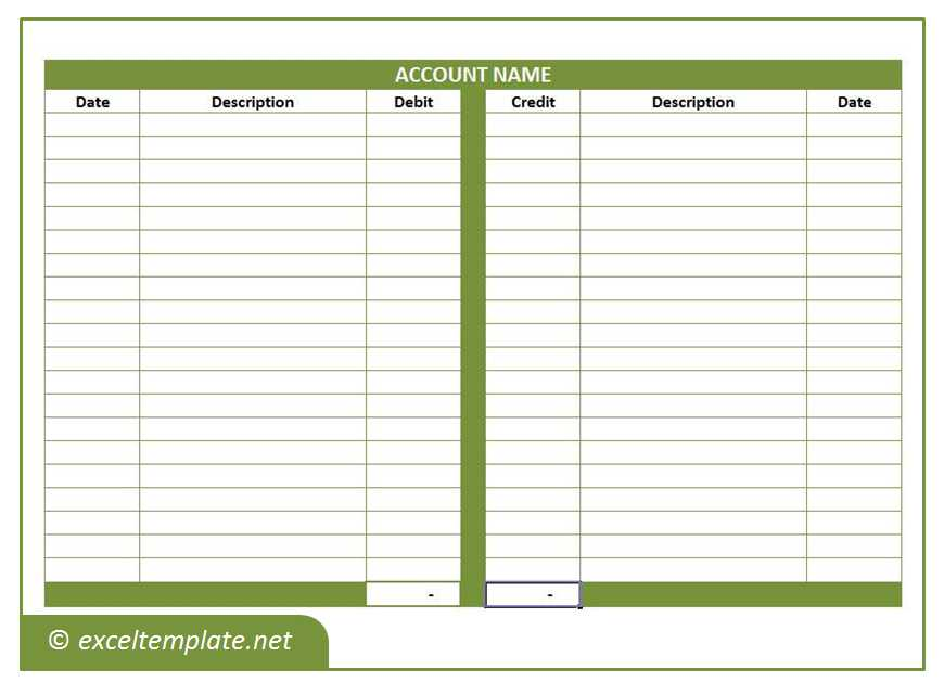 General Ledger Template | Microsoft Excel Templates