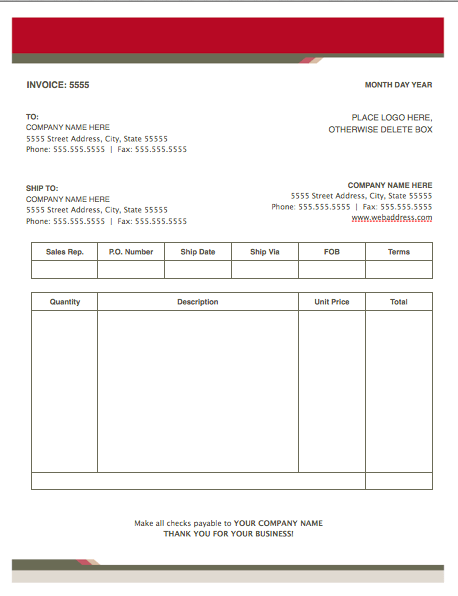 Health Stylish Invoice Template For Pages | Free iWork Templates