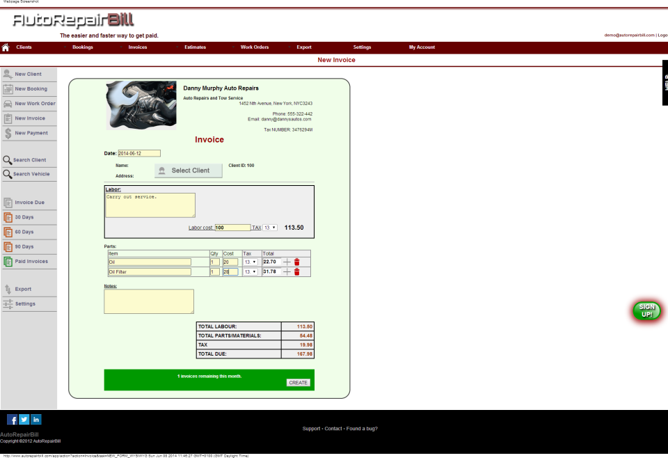Auto Repair Shop Invoice Software | dascoop.info