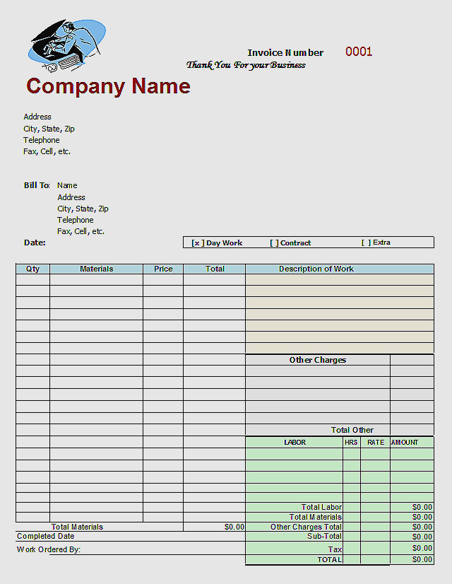 Aynex Invoice for Template Business Card @ Beautiful Mechanics