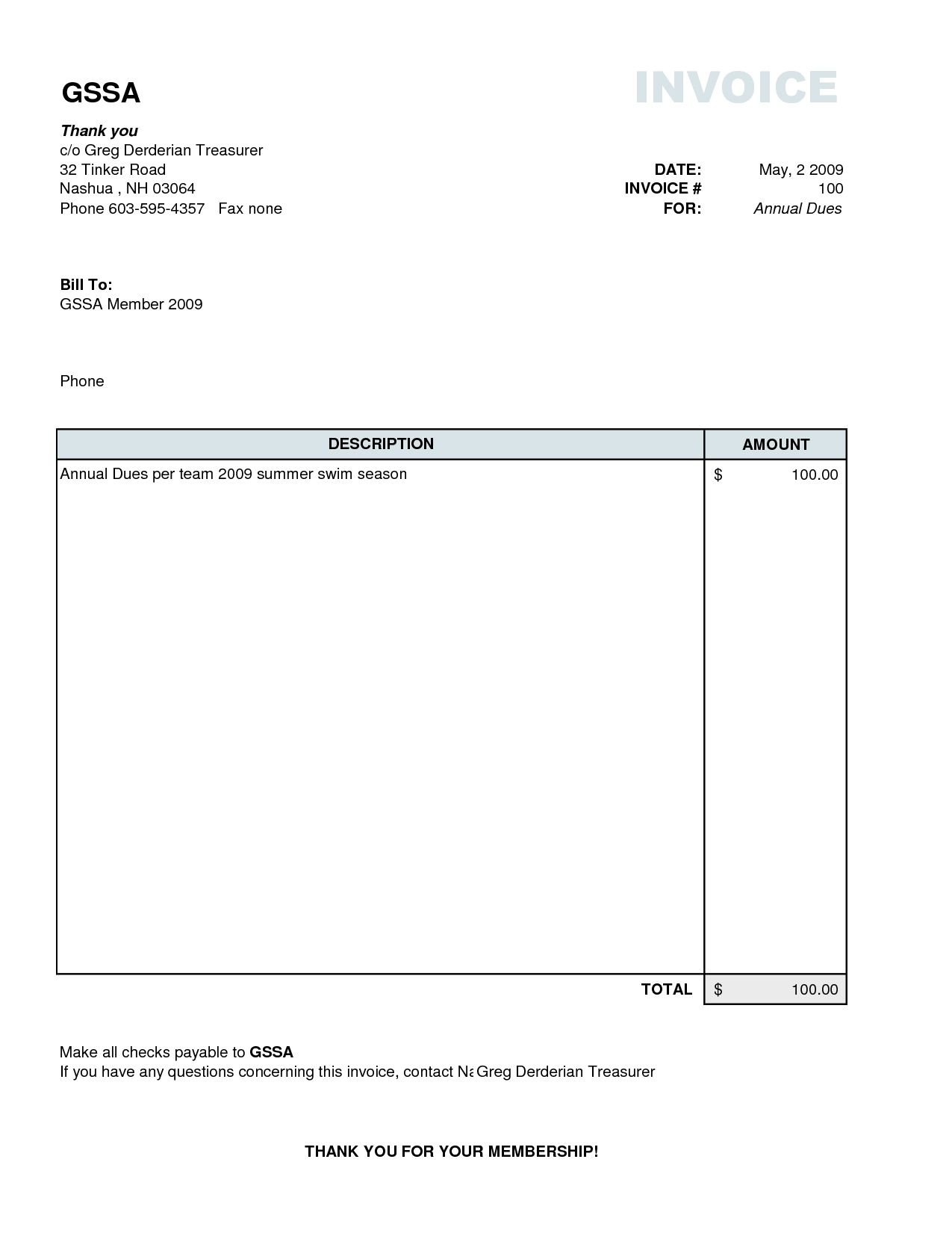 simple invoice template excel | datariouruguay