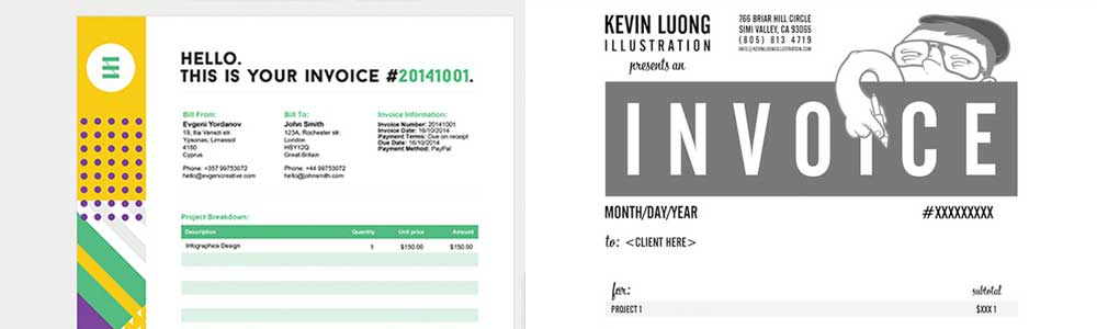 22 Beautiful Invoice Designs for Creatives