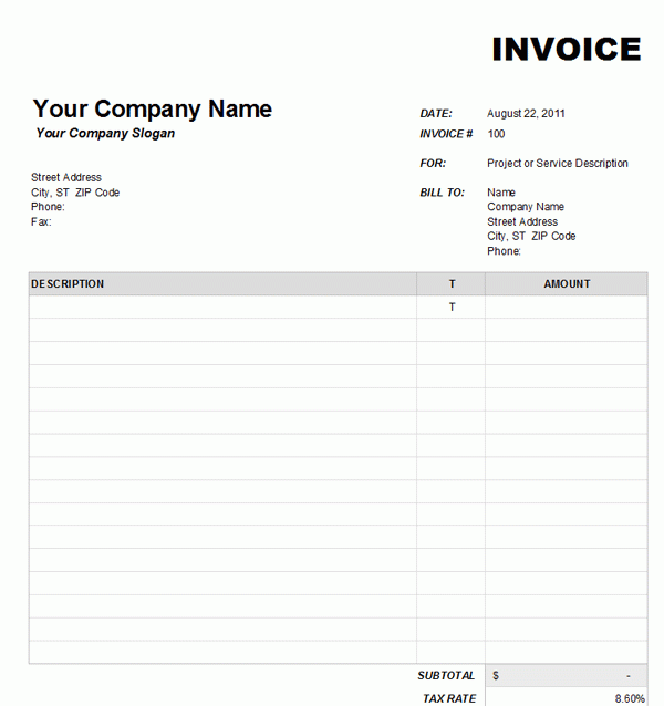free blank invoice download Acur.lunamedia.co