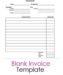 Blank Contractor Invoice Free Blank Invoice Etame Mibawa Co
