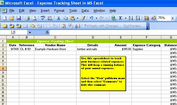 how to track business expenses in excel Ecza.solinf.co