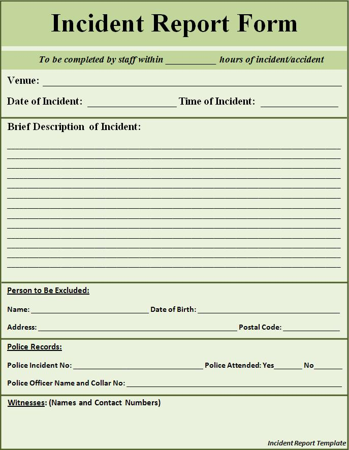 it incident report template Ecza.solinf.co