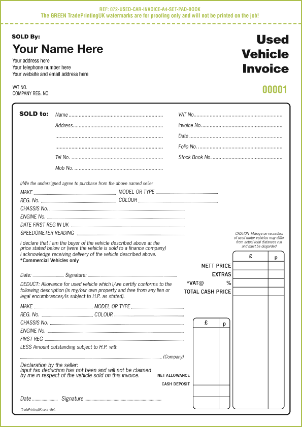 vehicle invoice template Black.dgfitness.co