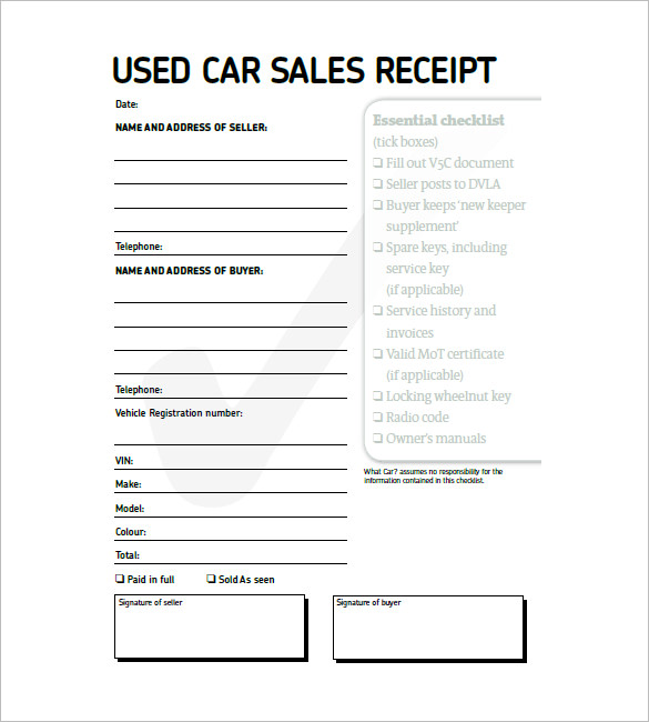 car sales invoice template free download car invoice template 8