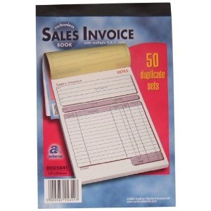 Adams Sales Invoice Book, Carbonless. DCU5841: Amazon.co.uk