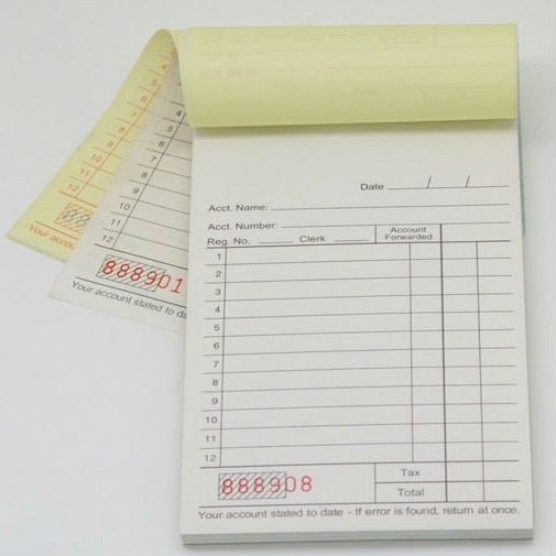 Custom A5 quadruplicate receipt invoice book NCR Quote Books print