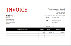 Customize & Print Carpenter Invoice for EXCEL | EXCEL INVOICE