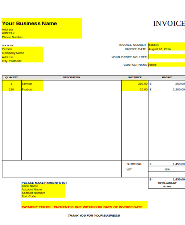 25 Professional Carpenter Invoice Templates Demplates