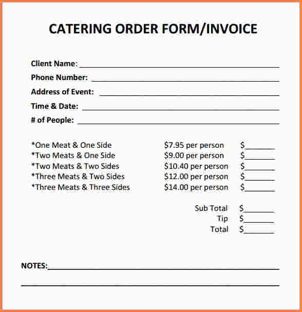 Make a Catering (Food) Service Invoice | PDF | Word | Excel YouTube