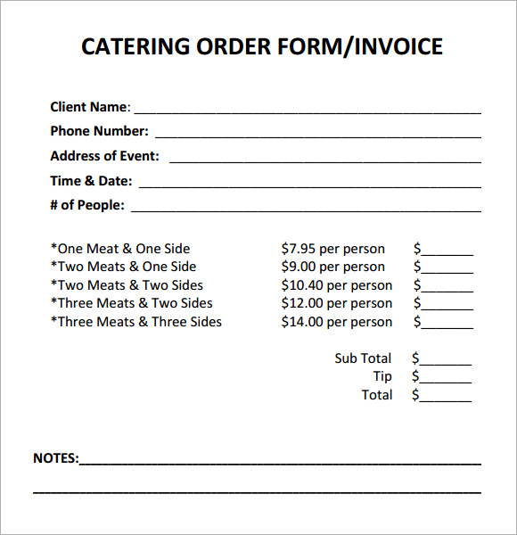 catering invoice template word catering invoice sample 10