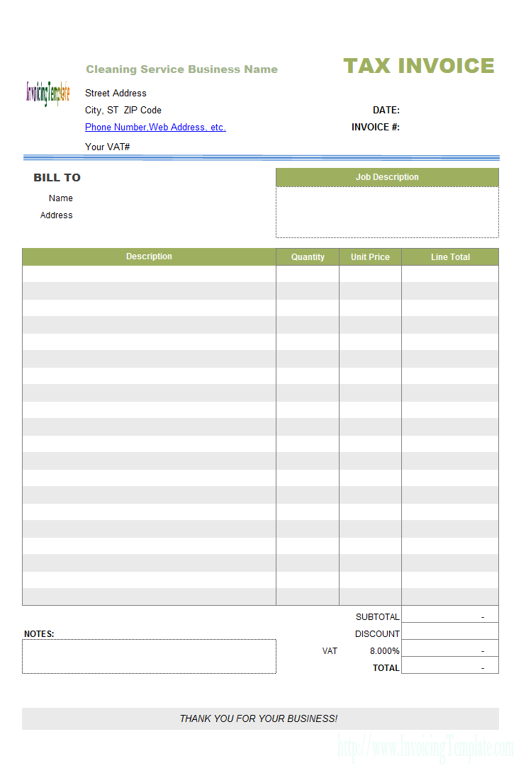 22 best Free Cleaning Invoice Templates images on Pinterest