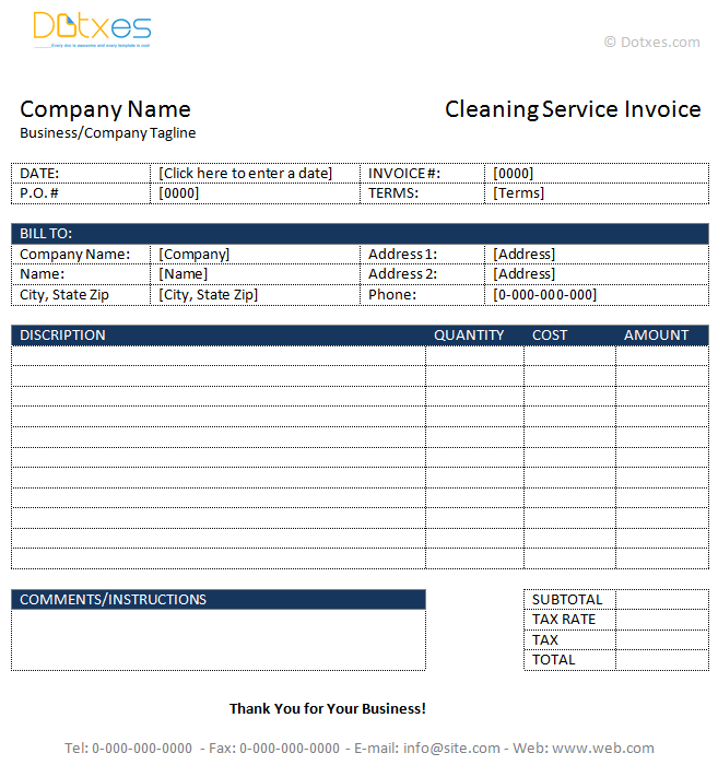 cleaning invoice sample Acur.lunamedia.co