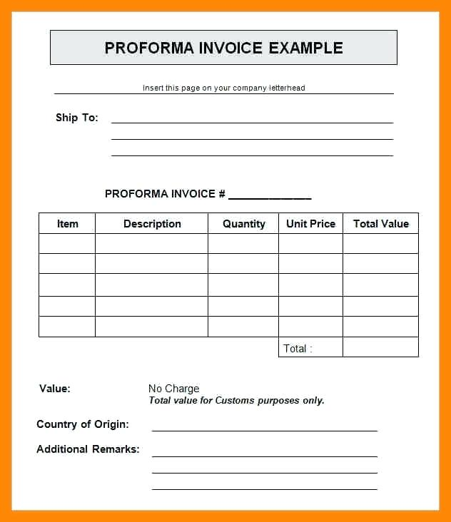 commercial invoice for customs purposes only