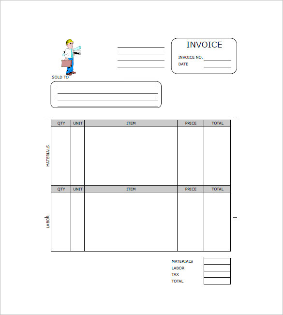 Construction Invoice Templates – 15+ Free Word, Excel, PDF Format