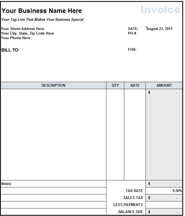 free construction invoice template word construction invoice
