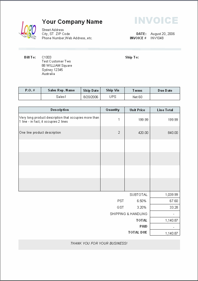 Copy Of An Invoice Template Free Invoice Template Copy Of Invoice