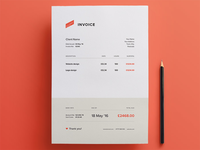 Design Invoices 50 Creative Invoice Designs For Your Inspiration