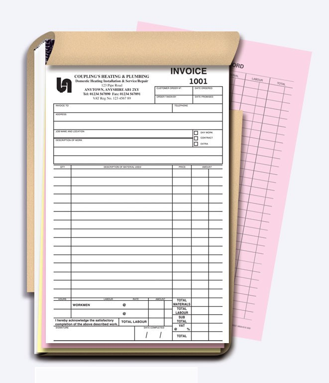 Sales Receipt Books Custom Invoice | DesignsnPrint