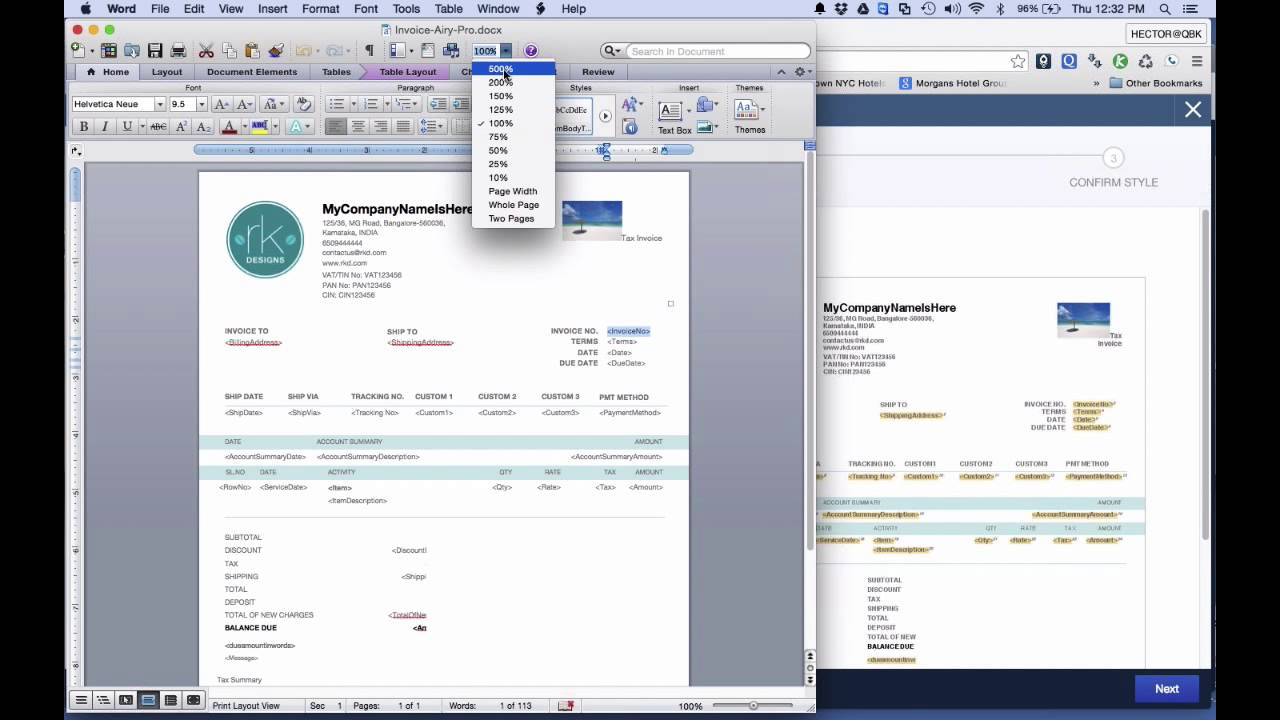 Customizing Your QuickBooks Invoice Template YouTube