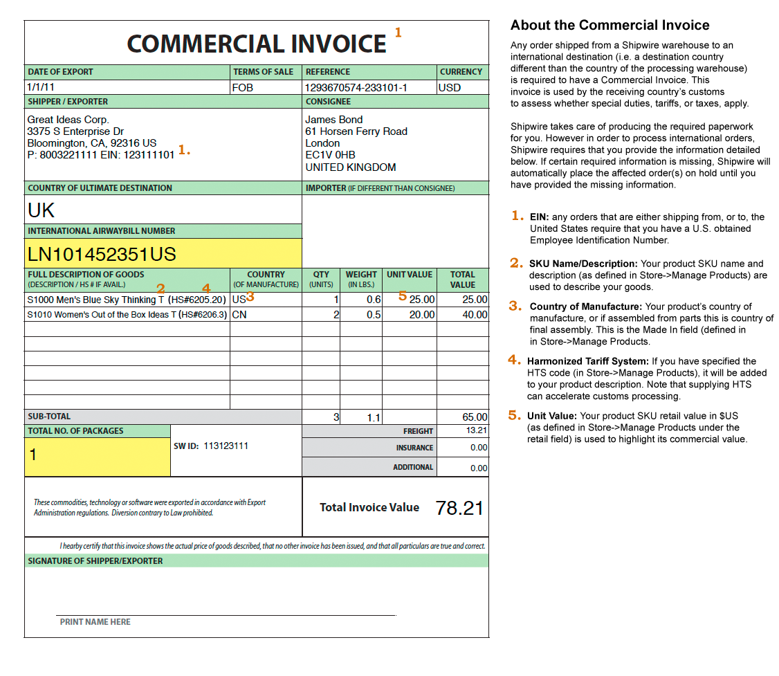 the commercial invoice Black.dgfitness.co