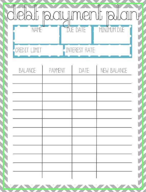 Debt Payoff Planner Free Printable Frugal Fanatic