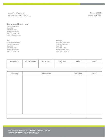 Hourly Invoice Template Word Modern Invoice Template Ms Word