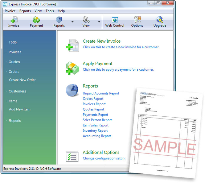 Express Invoice Free Download for Windows 10, 7, 8/8.1 (64 bit/32