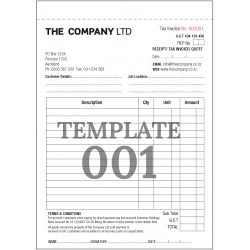 Invoice Duplicate Book Invoice Books 1 Or 2 Colour Duplicate Or