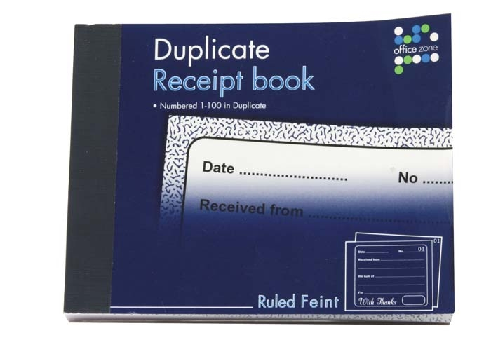 Receipt Book 80 duplicate receipts| The Childminding Shop