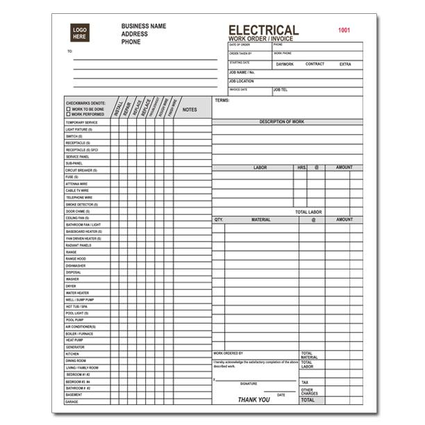 electrical invoice forms Acur.lunamedia.co
