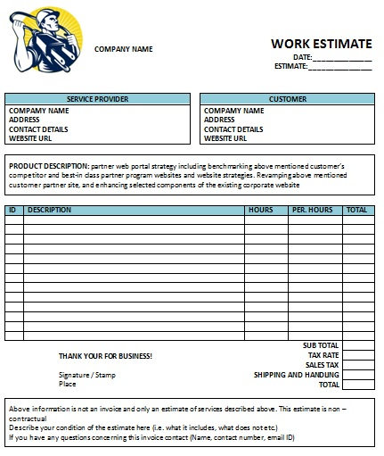 Electrical Contractor Invoice Template Apcc - Electrical contractor contract template