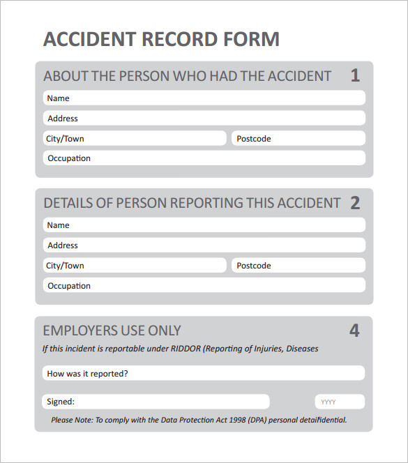 employee incident report form template Ecza.solinf.co