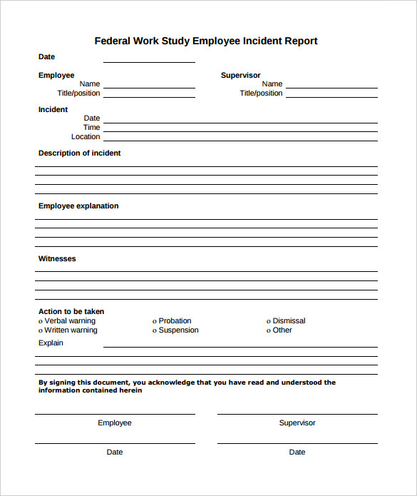 12+ Employee Incident Report Templates PDF, DOC | Free & Premium