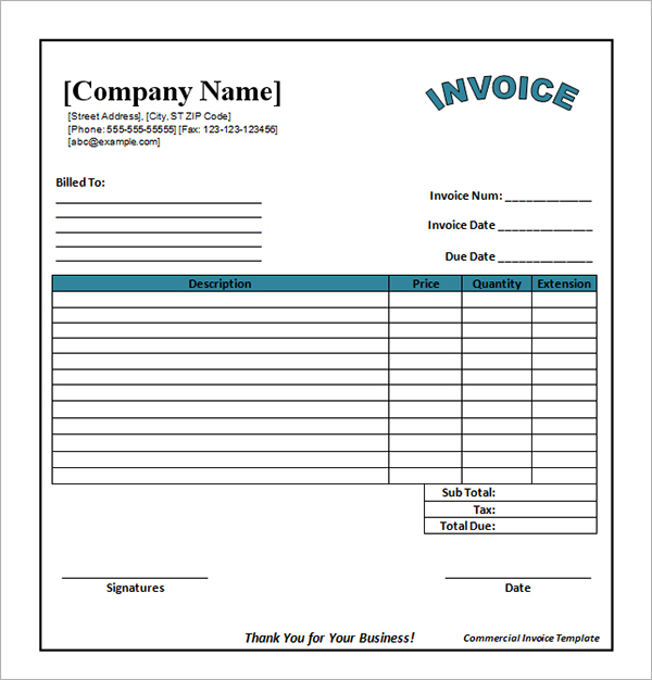 Employee Invoice Template 2016 Free Invoice Template Free Catering