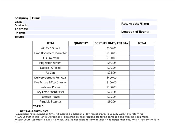 9 Sample Rent Invoice Templates to Download | Sample Templates