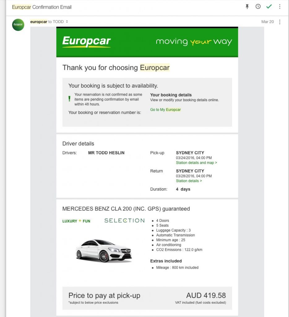 How Europcar stole £22.08 from me (and why you shouldn't rent from