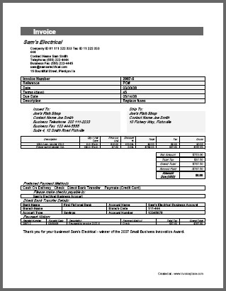 samples of invoices for payment Acur.lunamedia.co