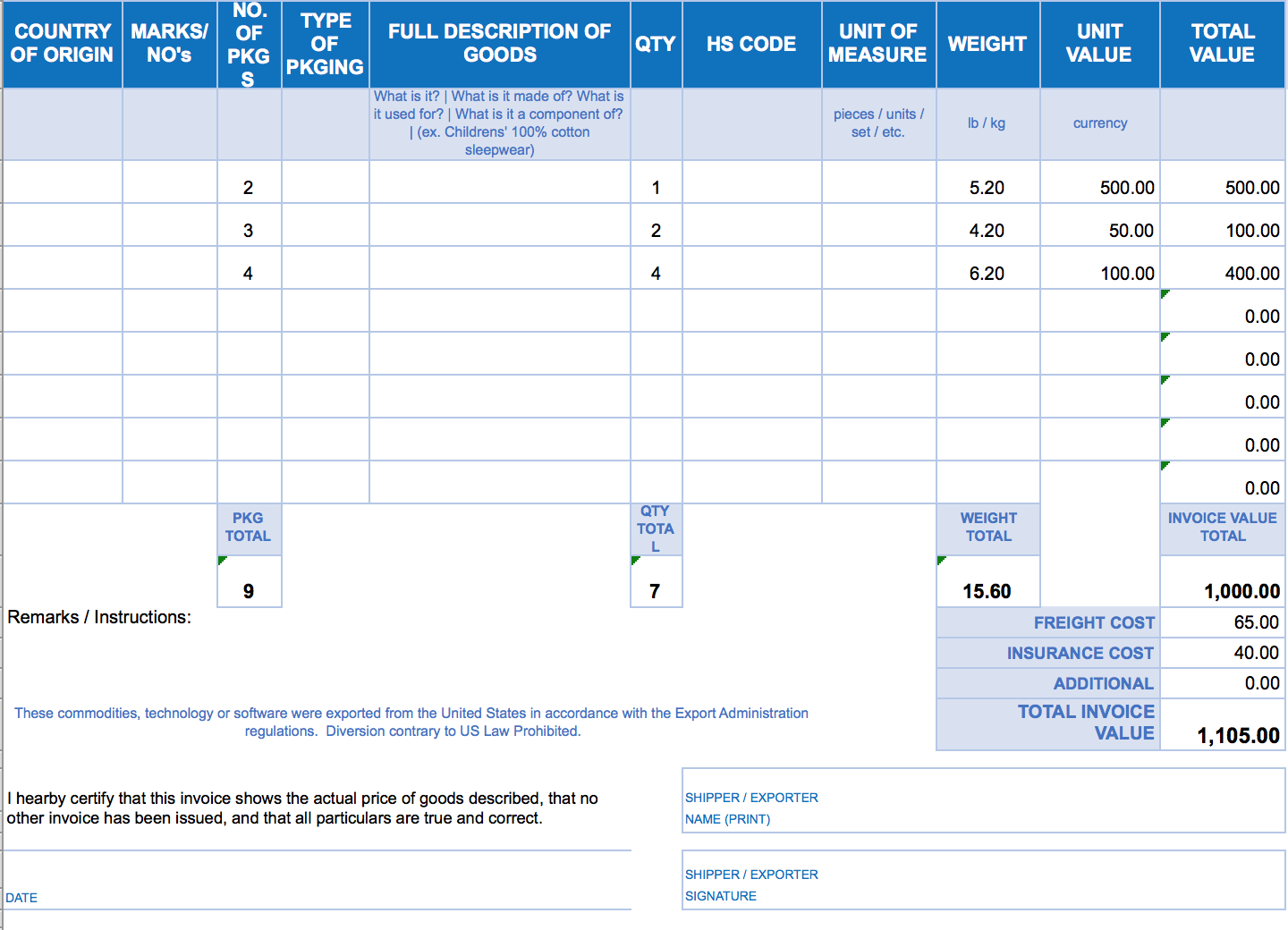 excel invoice form Ecza.solinf.co