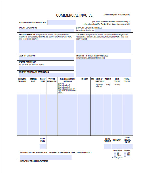 Export Invoice Format In Excel Free Download Filename – joele barb