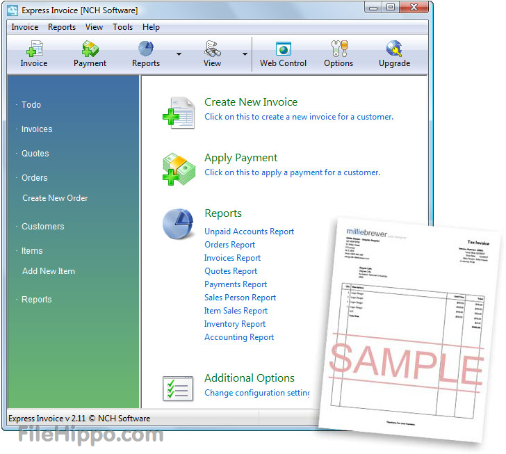 Download Express Invoice 601 Filehippo Express Invoice Software