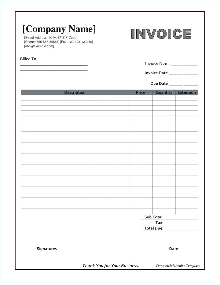 invoice template pdf fillable Black.dgfitness.co