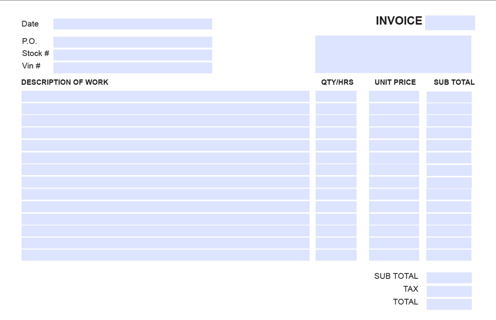 Fillable Invoice Template Pdf Free Fillable Invoice Form Free
