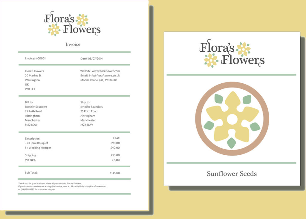 Florist Invoice Template Invoice Template Photography Invoice