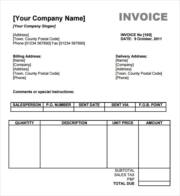 form for invoice billing Ecza.solinf.co